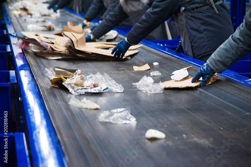 Fotografía  Waste recycling factory