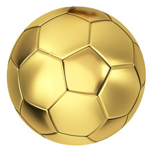 Golden Soccer Ball 3d Illustra...