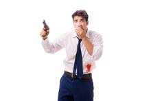 Businessman Wounded In Gun Fig...