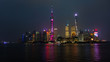 bund - shanghai skyline at night