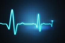 EKG - Cardiogram For Monitoring Heart Beat. 3D Rendered Illustration.