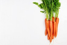 Bunch Of Carrots On The White ...