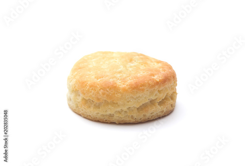 Papel de parede Classic White Biscuits on a White Background