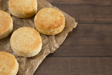 Classic White Biscuits On Baki...