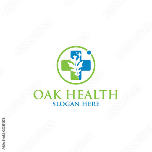 Oak health vector logo isolated. Logo templates. - Buy this stock ...