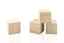 Wooden Building Blocks Isolate...