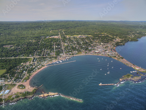 Photo  Grand Marais is a small Harbor City on the North Shore of Lake Superior in Minne