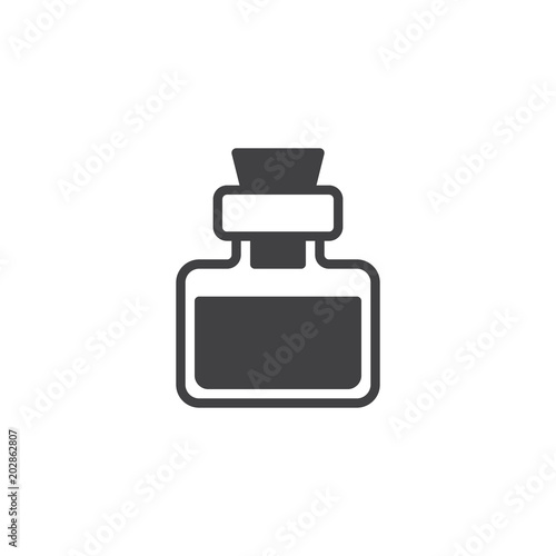 Fototapeta Potion drink vector icon. filled flat sign for mobile concept and web design. Magical elixir bottle simple solid icon. Symbol, logo illustration. Pixel perfect vector graphics obraz