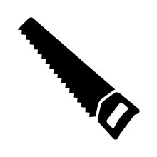 Hand Saw Or Handsaw Carpentry Tool Flat Vector Icon For Apps And Websites