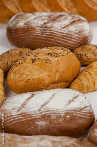 Foto op Canvas Brood Various bread loaves