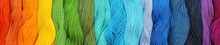 Banner Of Colorful Cotton Craft Threads