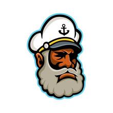Black Sea Captain Or Skipper Mascot