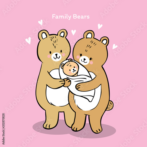 Cartoon Cute Family Bears Vector Buy This Stock Vector And Explore Similar Vectors At Adobe Stock Adobe Stock