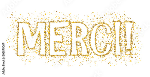 Carte Merci Avec Paillettes Buy This Stock Vector And