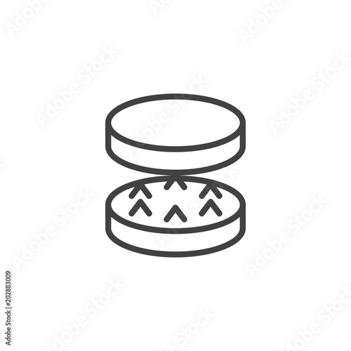 Photographie Drugs grinder outline icon