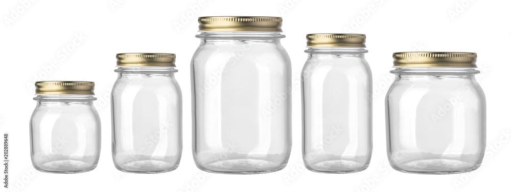 Fototapety, obrazy: empty glass jar isolated