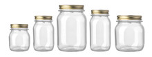 Empty Glass Jar Isolated