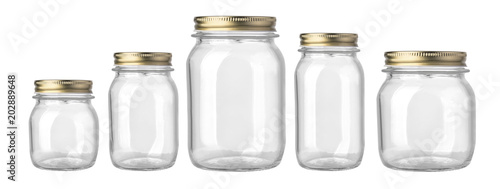 empty glass jar isolated Tableau sur Toile