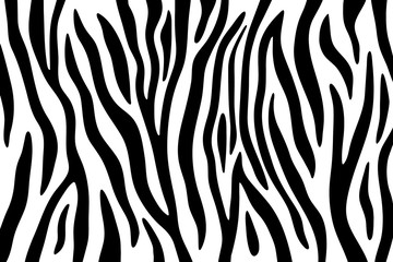 FototapetaZebra stripes black and white abstract background.