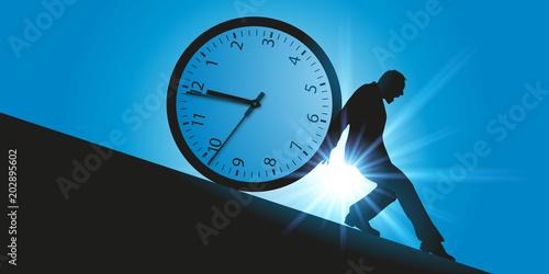 Obraz temps - temps qui passe - compte à rebours - délai - horaire - retenir - arrêter - concept - course - heure - fototapety do salonu