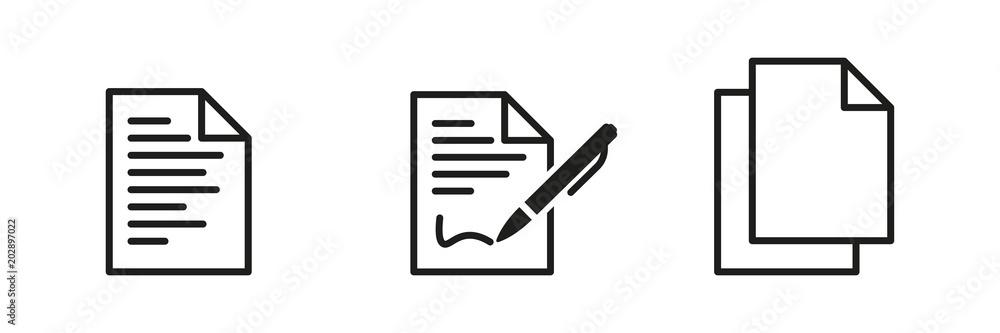 Fototapeta Symbol-Set - Dokumente