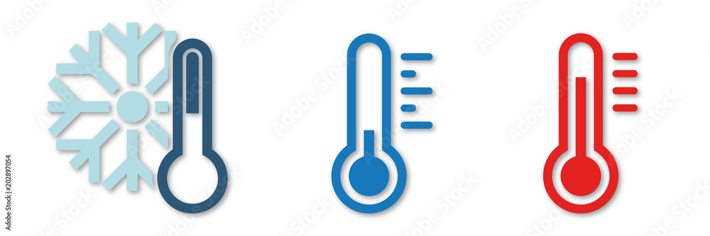 Fototapeta Symbol-Set - Temperaturen