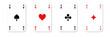 Vier Ass Karten - Spiel - Kartenspiel - Kreuz Pik Herz Karo