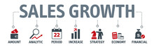 Banner Sales Growth Concept. V...