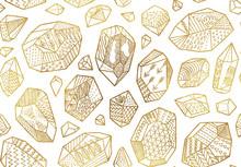 Seamless Pattern Of Golden Dec...