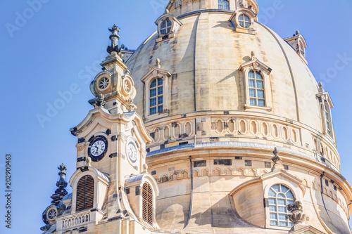 Foto op Plexiglas Monument Frauenkirche am Neumarkt in der Altstadt von Dresden