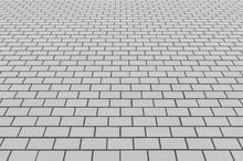 Outdoor White Brick Tile Backg...