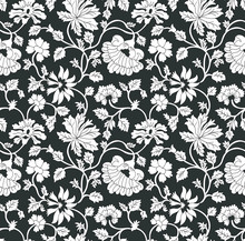 Seamless Flower  Paisley Pattern