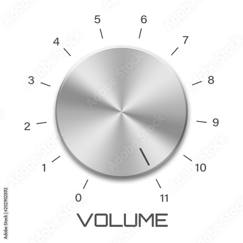 Fotografia  Volume Goes to Eleven Isolated