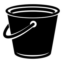 Domestic Bucket Icon. Simple Illustration Of Domestic Bucket Vector Icon For Web