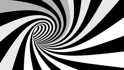 Hipnotyczne renderowanie 3D z iluzją spiralną