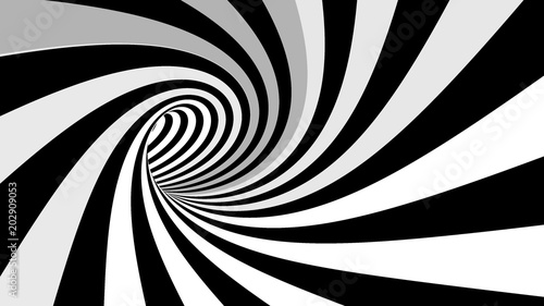 Photo Hypnotic spiral illusion 3D rendering