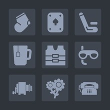 Premium Set Of Fill Icons. Such As Play, Jersey, Gray, Game, Warm, Autumn, Casino, Socks, Team, Cricket, Poker, Mask, Scuba, Cup, Striped, Clothes, Spring, Sock, Phone, Winter, Clothing, Champion, Tea