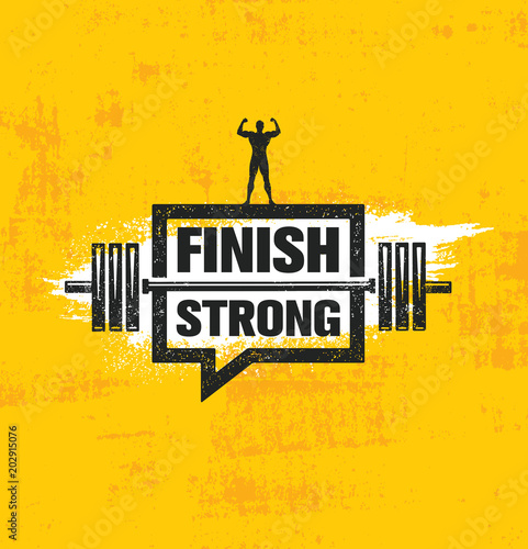 Finish Strong Canvas Print