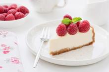 Cheesecake Slice With Raspberr...