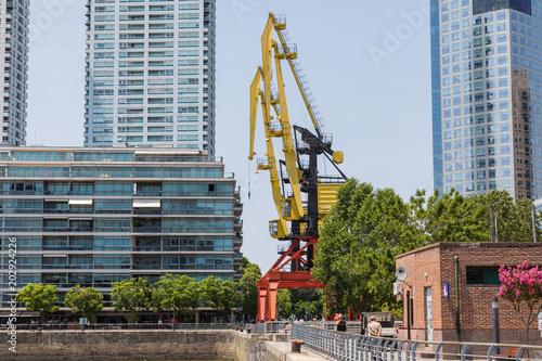 Poster Poort Shipyard in picturesque neighborhood of La Boca, in Buenos Aires, Argentina.