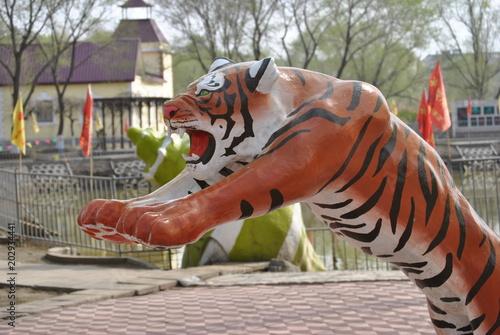 Fotografie, Obraz  Tiger statue in Harbin, China