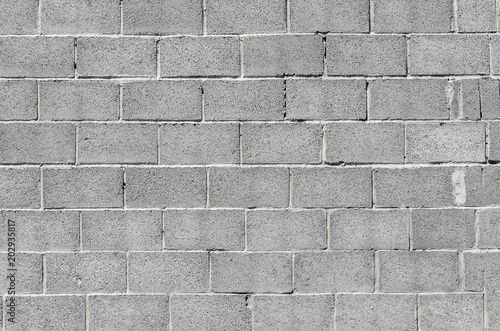 Wall of gray concrete blocks Poster Mural XXL