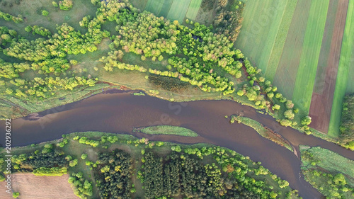 natural-river-drone-photo-taken-in-spring-poland