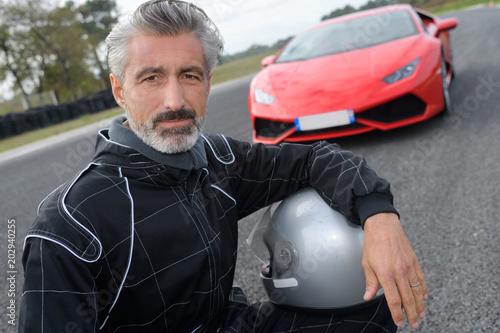 Photo fast car driver