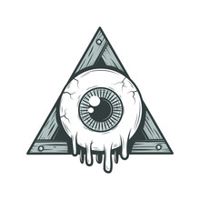 Cartoon All-seeing Eye