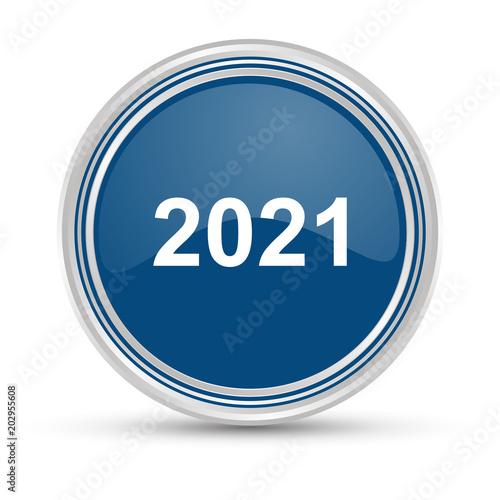 Poster  Blauer Button - 2021