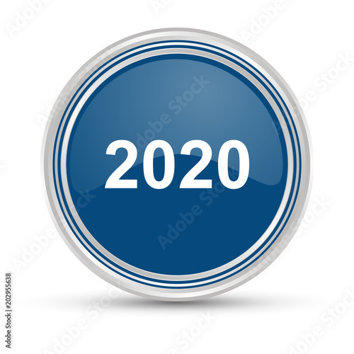 Poster Blauer Button - 2020