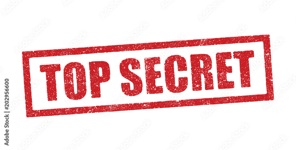 Fototapety, obrazy: Top Secret in red ink stamp