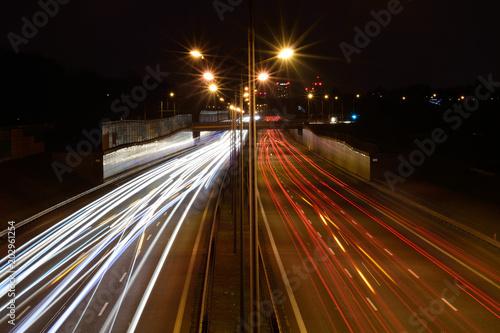 In de dag Nacht snelweg Autostrada nocą a