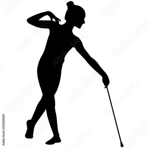 Fotografía  Baton Twirling silhouette, Girls  Baton Twirling clipart, Female sports vector,